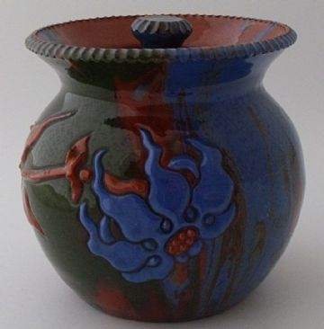 Elton Ware Pottery Jar And Cover With Floral Design